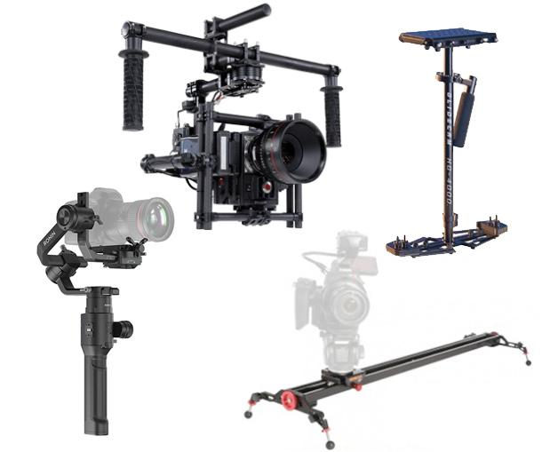 Gimbals, dollies, sliders, rigs, stabilizers