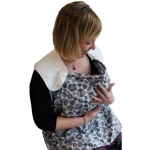 Breastfeeding towel (Simplygood) - brown balls  (1)