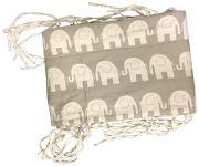 Crib Bumper / Bed-omranding & Duvet - Elephants (698)