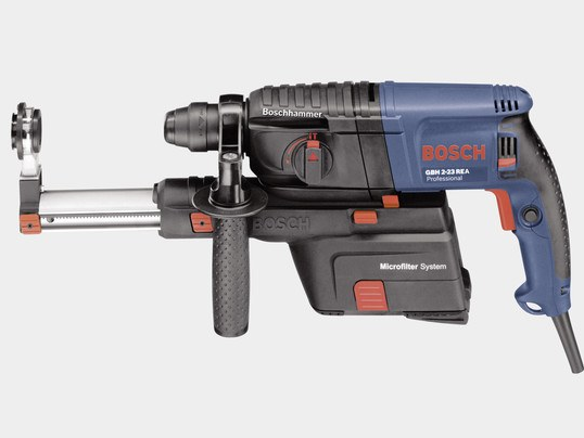 Light drill with dust extractor