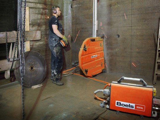 Wall Saw 1200Mm On Rail 380V High-Frequency
