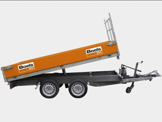 Tipping trailer, platform type, double axle