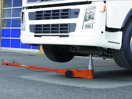 Air Hydraulic Trolley Jack, 3-Tier, 50/25/10 Tonnes