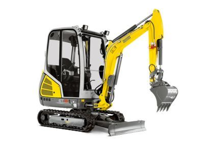 1.8t mini excavator with buckets, closed cabin (1)