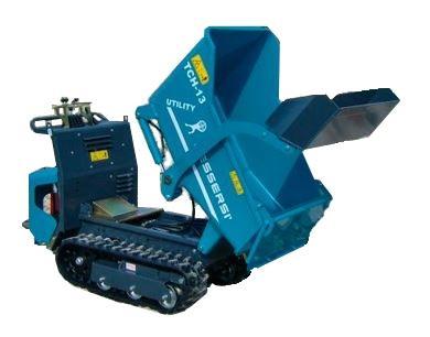 Wheelbarrow on caterpillar track 87cm 4t, maximum load 800kg, shovel loader spill bucket (1)