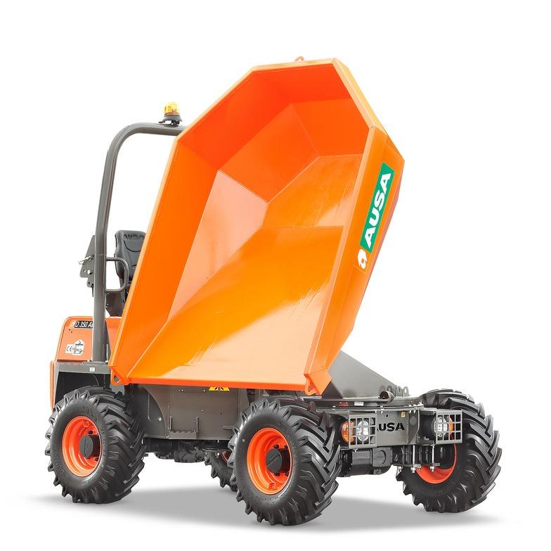 Dumper 5t capacity 3.5t width 1.90m 4x4 diesel tipper, rotary and tipping (1)