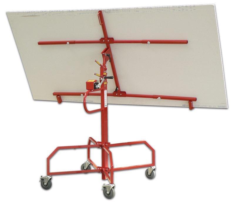 Gyproc crank plate lifter 4m max horiz ceiling/wall 80kgmax (1)