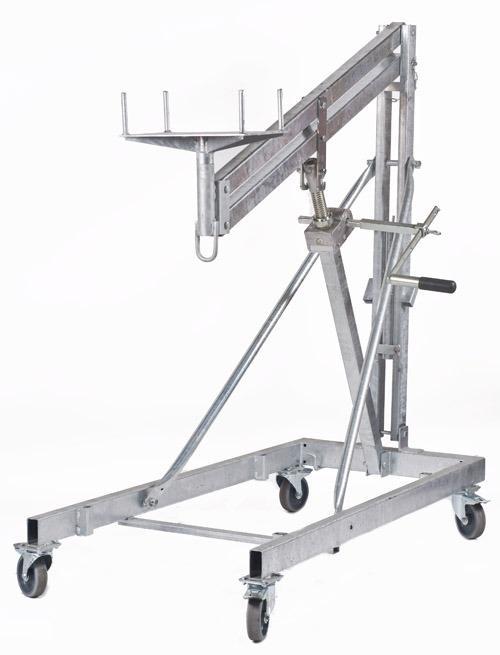 Leve poutrelle manuel a manivelle, 600kg maximum, hauteur 3m maximum