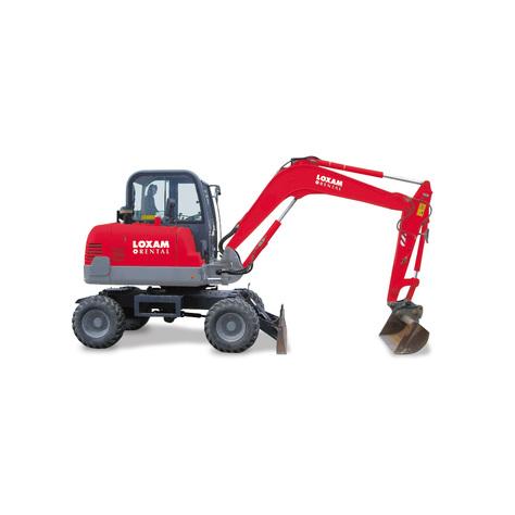 Wheeled mini-excavator (1)