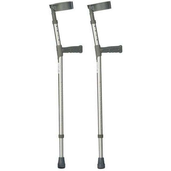 Crutches – grey – 97 to 119 cm
