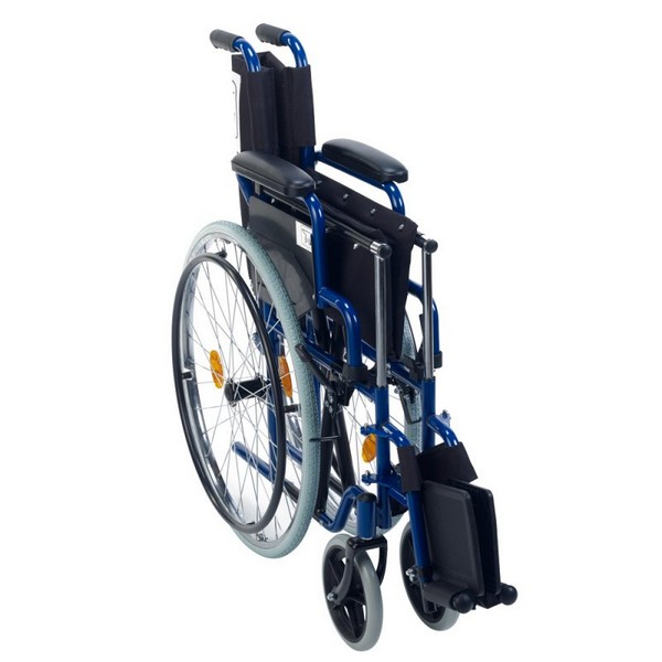 Foldable wheelchair – blue