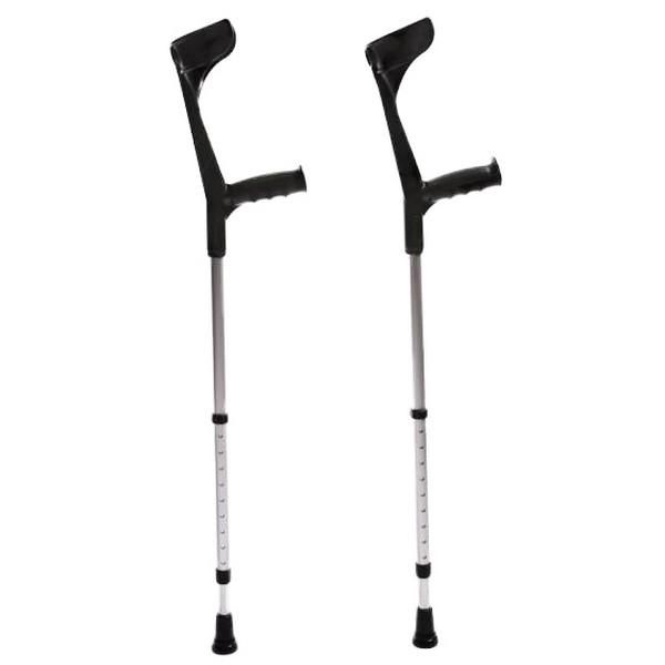 Crutches - black and orange - 102 to 120 cm (1)