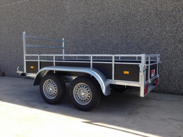 Twee-assige aanhangwagen (257mx132cm)